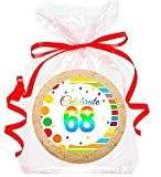 Send this delightful freshly baked treat as a gift or just because. Perfect for special occassions, birthdays and more. Cookies are 3inches x 3inches. Cookies are individually wrapped with color cordinated strings. They also come gift package...