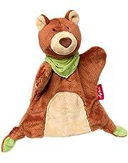 Sigikid 41987 Handpop knuffeldoek, beer, bruin, 23 x 16 x 9 cm