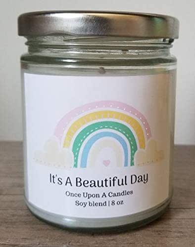 amazon com pastel rainbow candle it s a beautiful day