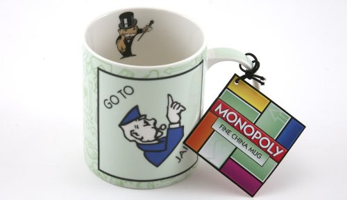 Price comparison product image Monopoly 'Go To Jail' Fine China Barrel Mug with Gift Tag by Creative Tops