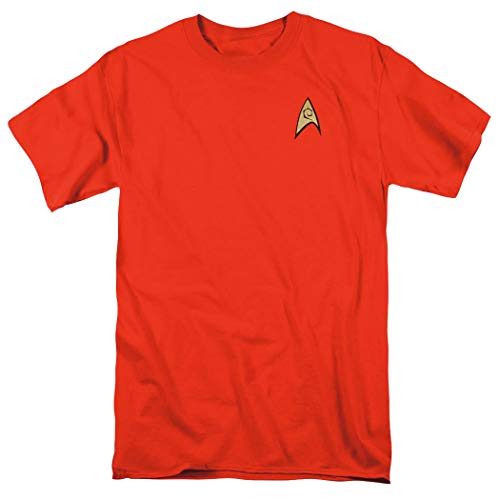 Star Trek Engineering Uniform Shirt w/Liquid Gold Ink & Exclusive Stickers (M) -