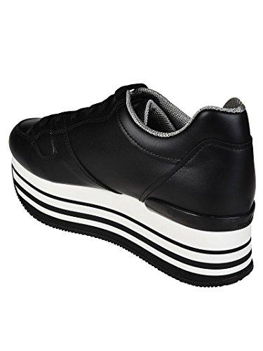 Hogan Nero Maxi Nere Donna H283 HXW2830AA70KLAB999 Pelle in Sneaker 60c6fg