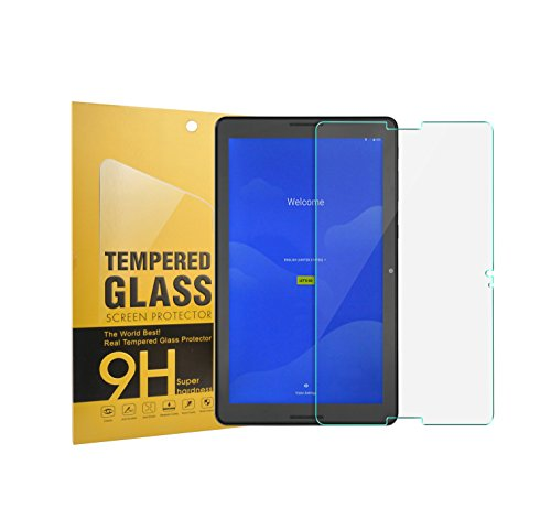 AT&T Primetime 10 Inch Tablet Tempered Glass Screen Protector Premium HD Clear [9H Hardness] for 10 Inch AT&T Primetime / ZTE Primetime K92 4G LTE Tablet 2017 Release