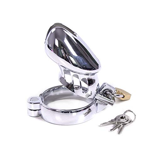 - stainless steel metal male lock cage male - suitable for most men size (3 rings) ()