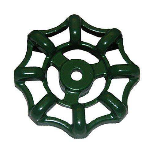 LASCO 01-5109 Metal Outside Faucet Hose Bibb Round Wheel Handle, 12 Point Broach - Water Knob Valve