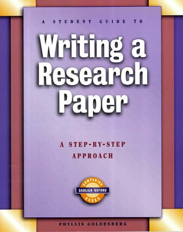 sadlier writing a research paper Writing a research paper a step by step approach sadlier oxford student guides writing a research paper: a step by step approach (sadlier , amazoncom: writing a.