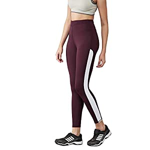 BLINKIN Yoga Gym Dance Workout and Active Sports Fitness Side Striped Leggings Tights for Women|Girls(9150)