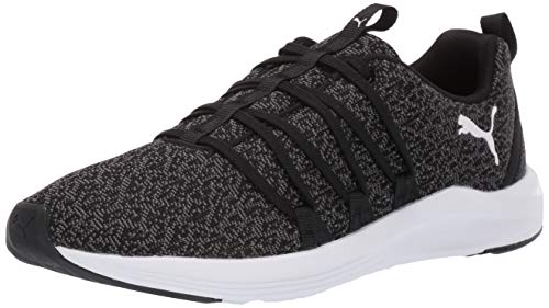 (PUMA Women's Prowl Alt Knit Sneaker Black Whit, 11 M US)