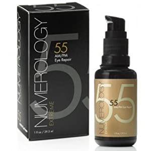 Anti Aging Eye Cream with Vitamin C Hyaluronic Acid Peptides Retinol+Matrixyl 3000 by Numerology Skincare. The Best Eye Serum for Wrinkles, Puffiness+Dark Circles with Fast and Long Lasting Results.