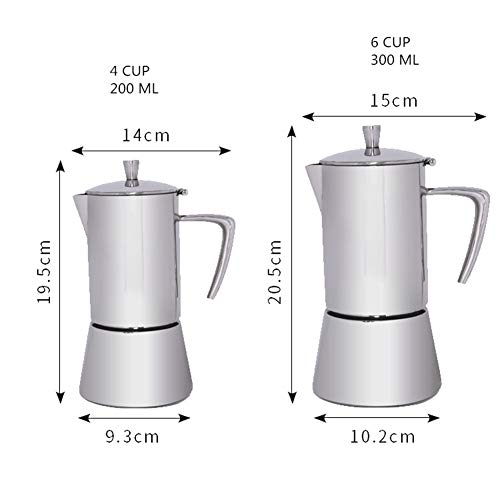 Yzibei Taza de Filtro de Cafe Moka Pot Mocha Coffee Pot Café ...