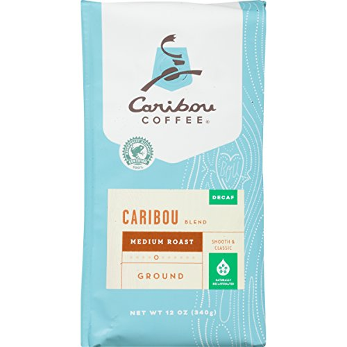 Caribou Coffee Caribou Blend Decaf Ground, Medium Roast, 12-Ounce Bag