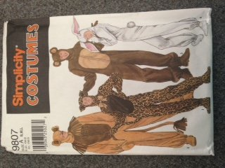 Simplicity 9807 or 4457 Adult Animal Costumes Sewing Pattern, Leopard Lion Bear Rabbit ()