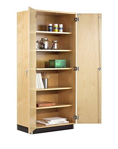 Solid Hardwood Doors - Diversified Woodcrafts GSC-21 Solid Hardwood General Storage Cabinet with Hinged Maple Door, 60