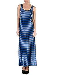2LUV Plus Women's Sleeveless Striped Maxi Dress
