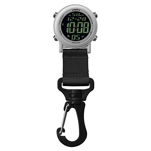 28812 Dakota Digital Backpacker Carabiner Clip Watch Silver (Watch Digital Dakota)
