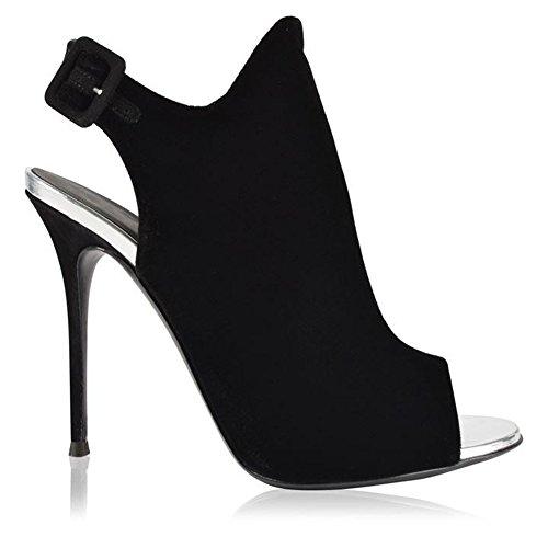 Toe Offene Elobaby Ferse High Kleid Heels Work Kätzchen Zehe Party Frauen Pumps Schuhe Ankle awqBwTx0