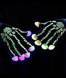 LED Skeleton Flashing Light Up Gloves