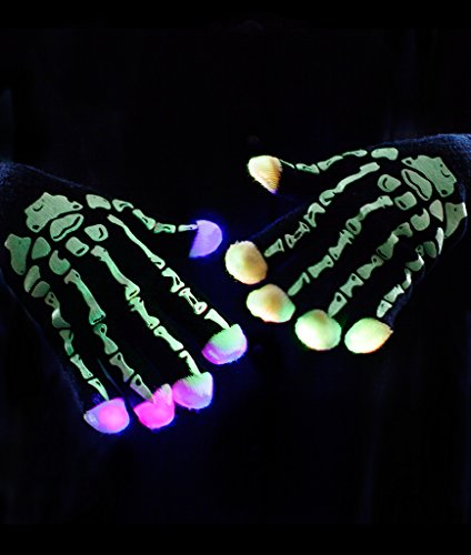 Glow In The Dark Skeleton Costumes Kids (Fun Central O759 LED Light Up Skeleton Gloves)