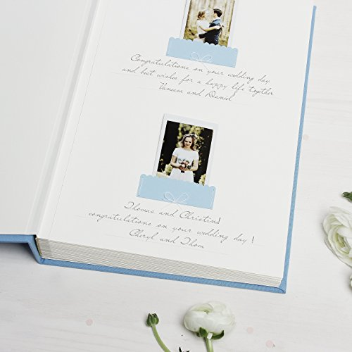 Sky Blue Instax Guestbook Gold Foil Beach Wedding Photo Album