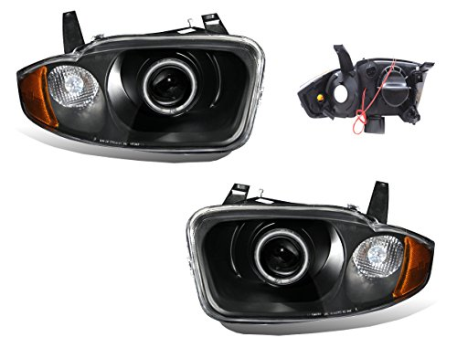 Sppc Projector Headlights Black Assembly With Halo For Chevrolet Cavalier    Pair  Driver Left And Passenger Right Side Replacement Headlamp