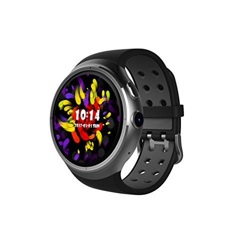 SHENGMO New Z10 Smart Watch Phone 1GB Ram 16GB Rom MTK6580 Quad Core Watchphone Android 5.1 OS WIFI Bluetooth Smartwatch for Android IOS (silver)