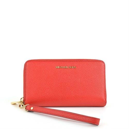 Michael Kors Giftables Jet Set Travel Flat Leather Phone Case (Tangerine Orange) by Michael Kors