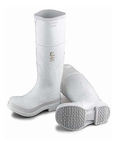 Bata Shoe 81012-10 Onguard Industries Size 10 White 16'' PVC Knee Boots With Safety-Loc Outsole, Steel Toe And Removable Insole