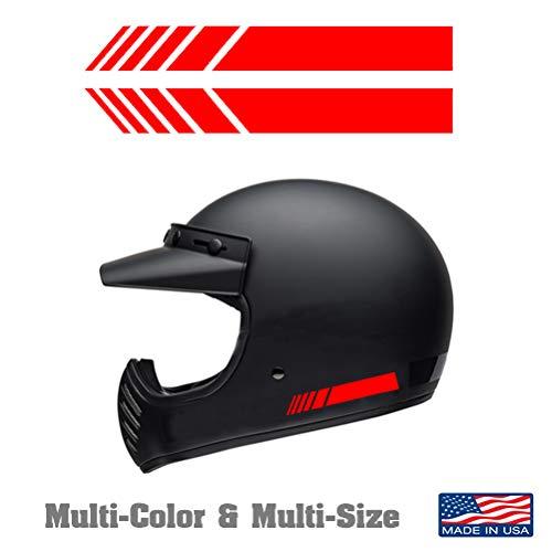 MULTICOLOR 2pcs Helmet Vinyl Sticker Decal for Dirt Bike gear accessories