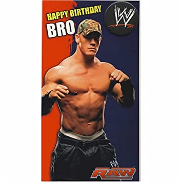 WWE Wrestling Brother Birthday Card With Badge Amazoncouk Toys
