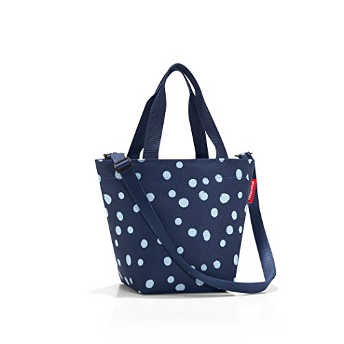 - reisenthel Shopper XS, Extra Small Zippered Tote Bag with Shoulder Strap, Spots Navy