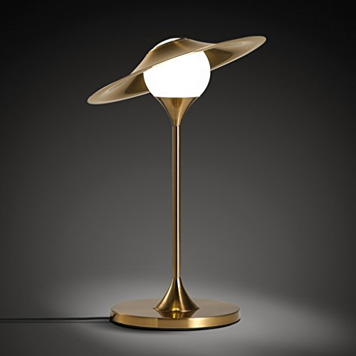 Great St. Creative LED Table Lamp, Gilt Iron-art Lamp Body, Glass Lamp Shade, Bedroom Bedside Lamp FGD (Color : A)