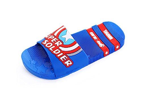 Bakerdani Boy's Girl's Summer Cartoon Slippers Soft Bottom Anti-Slip Sandals
