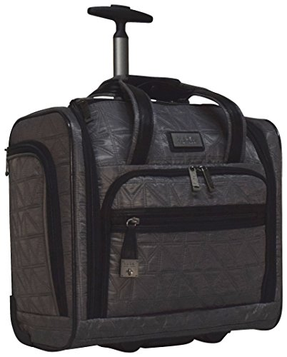 Nicole Miller Signature Quilt Under Seat Bag Carry On (Gray) from Nicole Miller