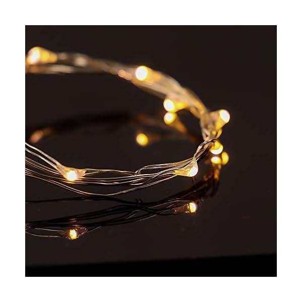 【10 pezzi】Luci Stringa LED - 20 LED 2M Mini Lampada a fili di rame Bianco Caldo, Lucine Decorative a Batteria Luci d'atmosfera Bottiglia di vino, Interni e Esterni per Festa, Natalizie, Halloween 5 spesavip