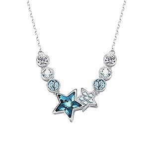 6293e931fe6b Epinki Brillante Mujeres Collar Escorpion Forma Colgante Cadena Scorpio con  Azul óxido de Circonio.  3