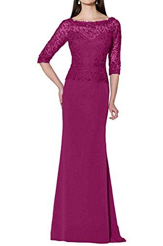 Promkleider Spitze Abendkleider Langarm Brautmutterkleider Braut Etuikleider mia Festlichkleider Attraktive Pink La Neu wRqg8Ix