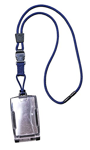 EK USA FIPS 201 One Hander ID Card Holder with Lanyard, S...
