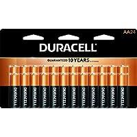 Duracell - Baterías alcalinas CopperTop AA - Batería doble A de uso múltiple, de larga duración, para uso doméstico y profesional: 24 unidades