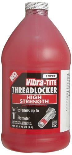 Vibra-TITE 137 Permanent High Temperature and High Strength Anaerobic Threadlocker, 1 liter Jug, Red by Vibra-TITE