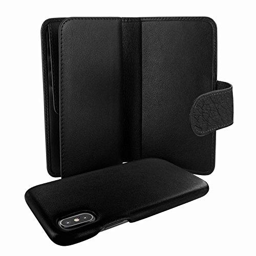 Piel Frama 793 Black Karabu WalletMagnum Leather Case for Apple iPhone X by Piel Frama (Image #3)