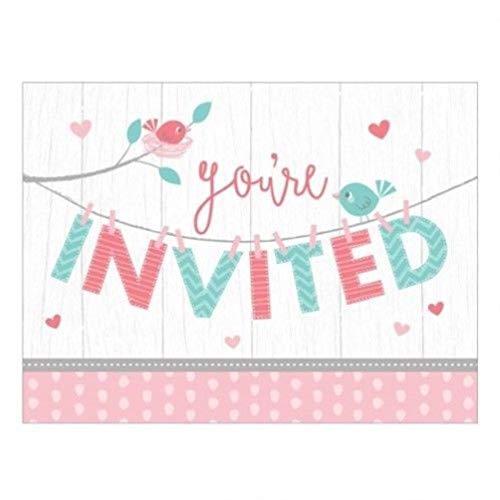 - hersrfv home Hello Baby Girl Postcard Invitations with Envelopes 6