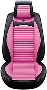 Autositzbezug-Set aus Leder QRFDIAN Autositzabdeckung Vorne und hinten 5-Sitzer-Komplettsatz Universal Leinen Leder Four Seasons Pad Kompatibel f/ür Airbag-Sitzschoner. Autositzabdeckung