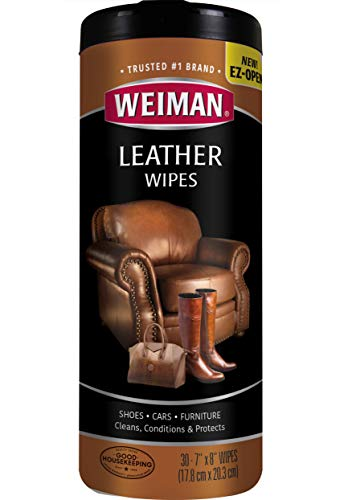 (Weiman Leather Wipes - Clean and Condition Car Seats, Shoes, Couches and More - 30 Count (4 Pack))