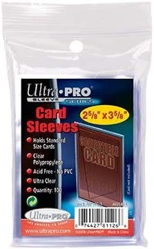 "UltraPro 3"" x 4"" Clear Regular Top Loaders - 100 Total + Ultra Pro Clear Soft Sleeves - 100 Total"