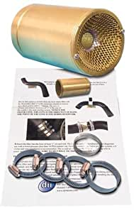 1965-73 Mustang Coolant Filter Kit for V8, Brass Barrel & Clips