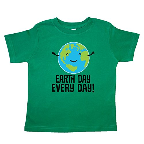 inktastic - Earth Day Every Day Planet Toddler T-Shirt 4T Kelly Green ()