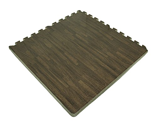 4 Pc. Faux Dark Woodgrain EVA Foam Interlocking Comfort Mat Set 24 X 24 Inch (Fake Hard Wood Floors compare prices)