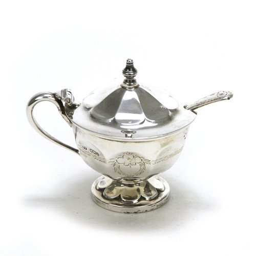 Mustard Pot by Made in England, Sterling, Garland & Flower