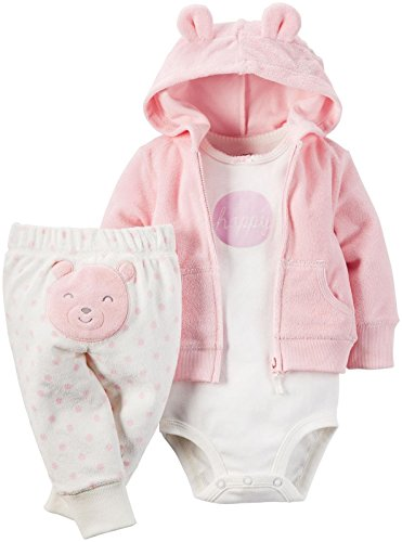 Carter's Baby Girls 3 Pc Sets 126g280, Pink, 12 Months