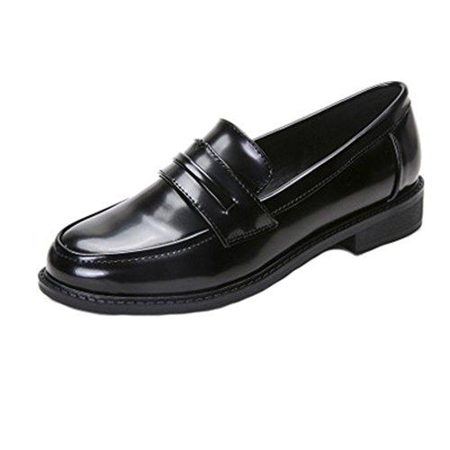 Giy Clásico Mocasín Penny Slip-on Casual Low Flat Comfort Business Vestido Oxford Zapatos Negro
